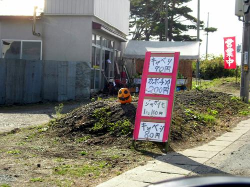あとは無人?野菜売り場とか。