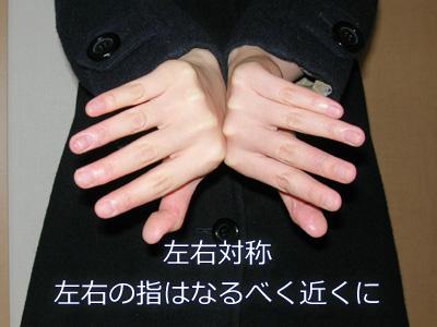 虫っぽく見える手